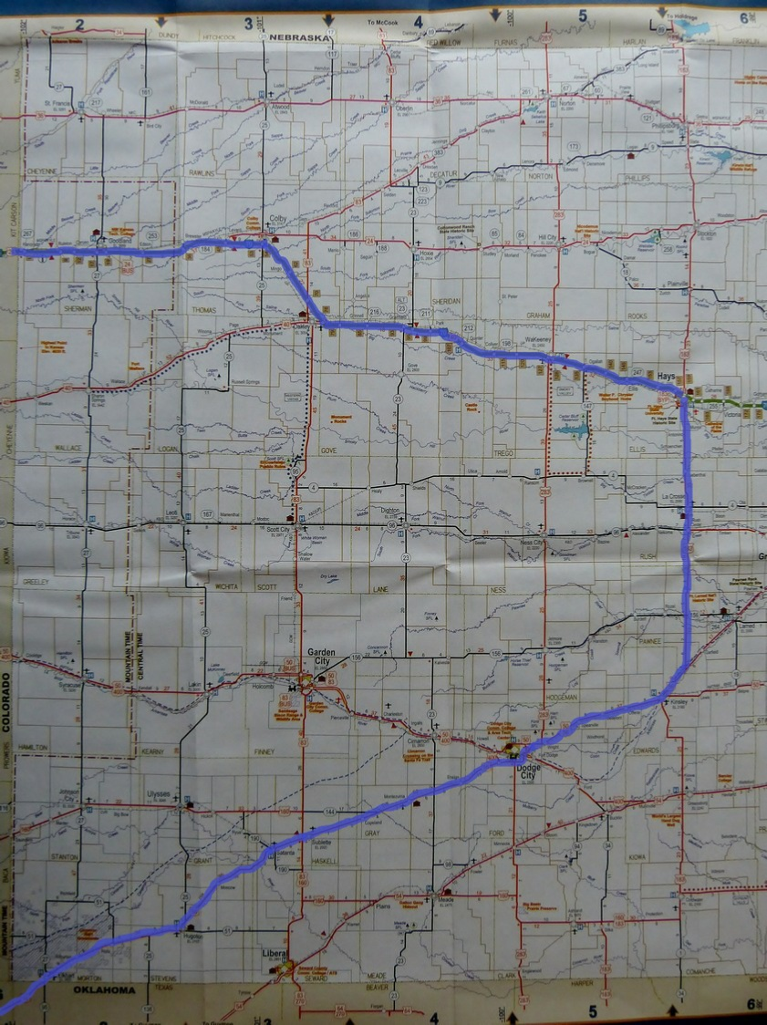 Route in Kansas